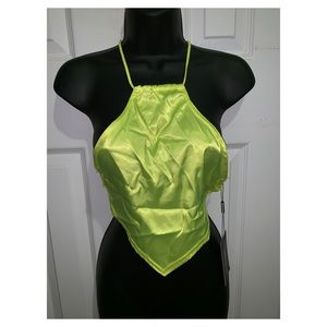 """NEW"" Neon Lime Green Crop Top 🐲😍"